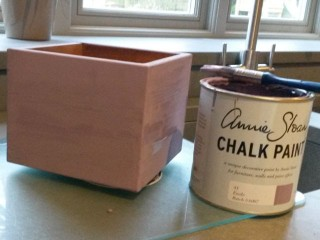 Chalk painting frames and furniture