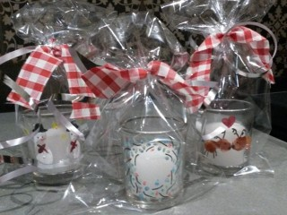 Decorated candle gifts